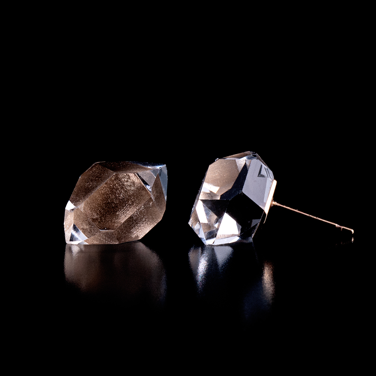 Herkimer diamond earring / Single