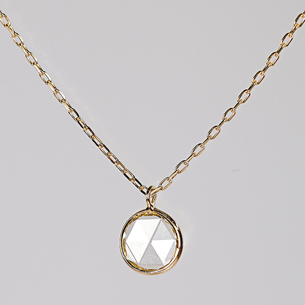K18 Rosecut Diamond Necklace / Round