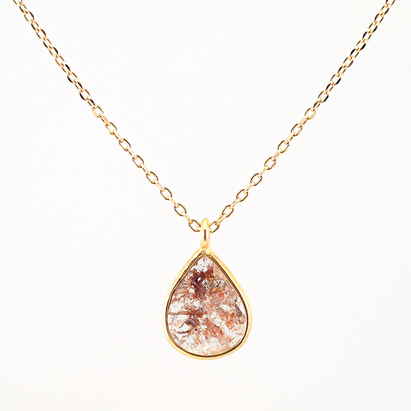 Slice diamond necklace / Red