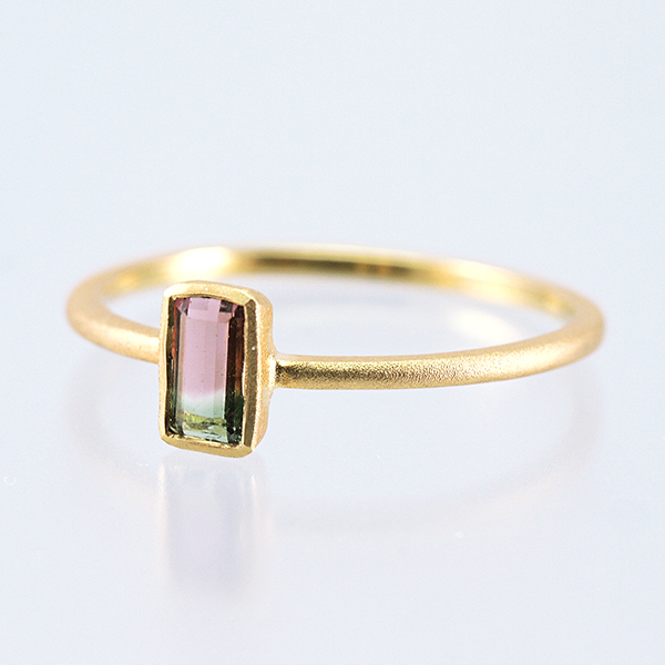 K18 Tourmaline Ring / Bicolor