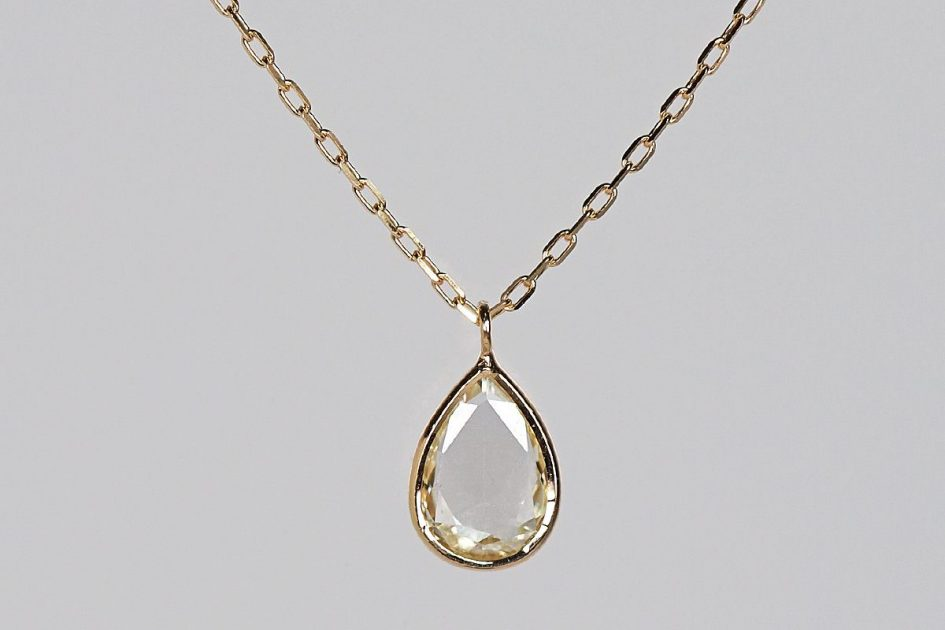 K18 Rosecut Diamond Necklace / Drop