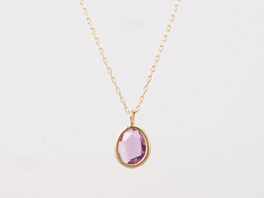 K18 Pink Sapphire Necklace